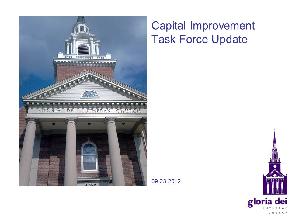 Capital Improvement Task Force Update