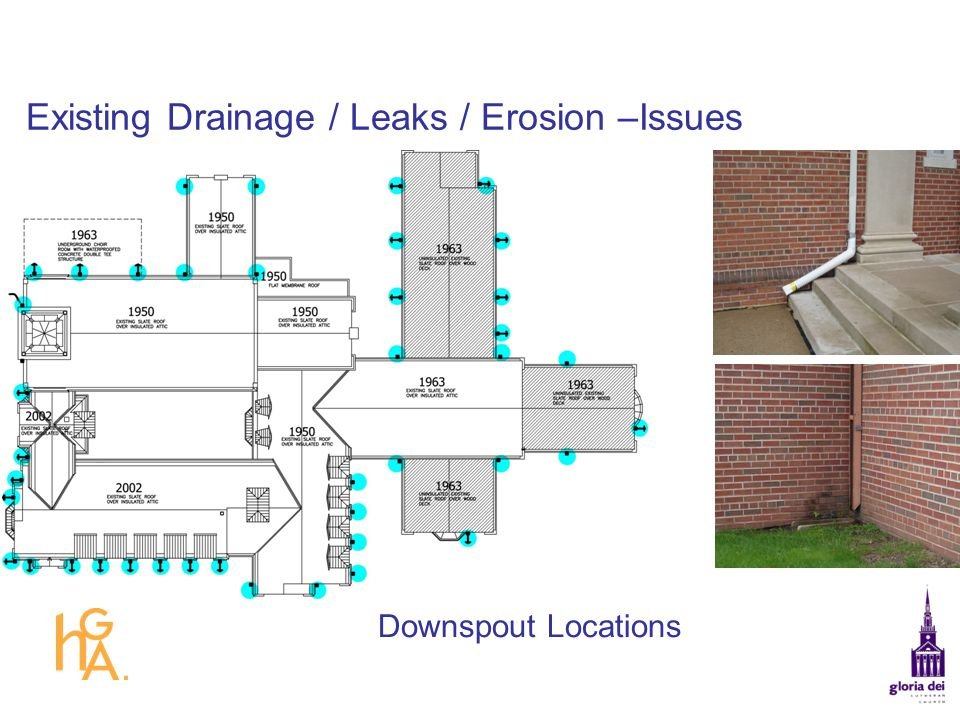Existing Drainage / Leaks / Erosion –Issues