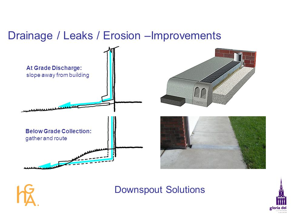 Drainage / Leaks / Erosion –Improvements