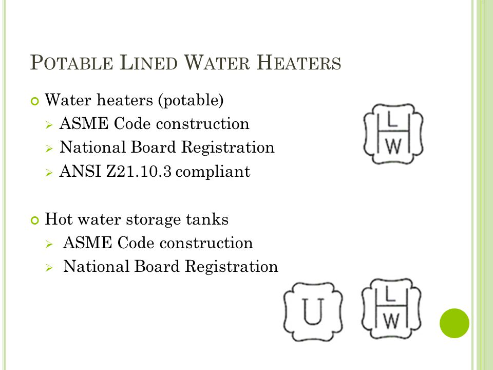 Potable Lined Water Heaters