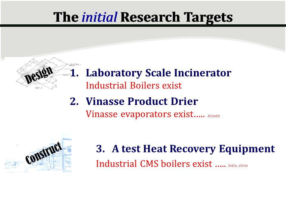 The initial Research Targets