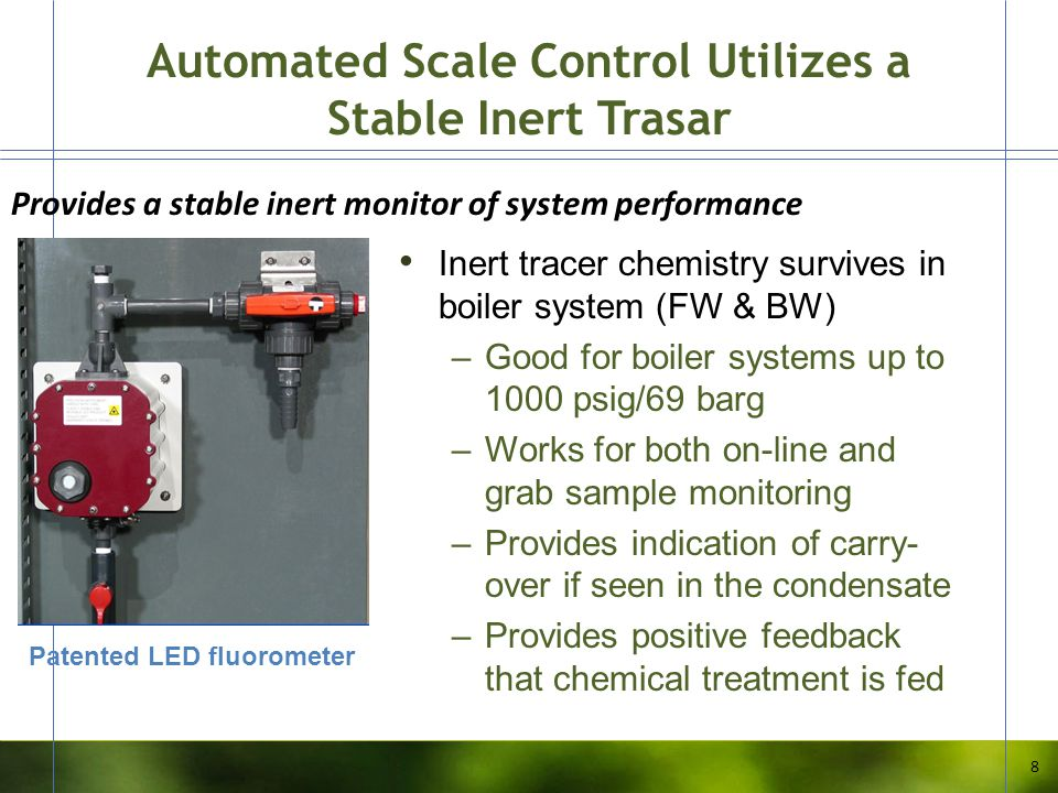 Automated Scale Control Utilizes a Stable Inert Trasar