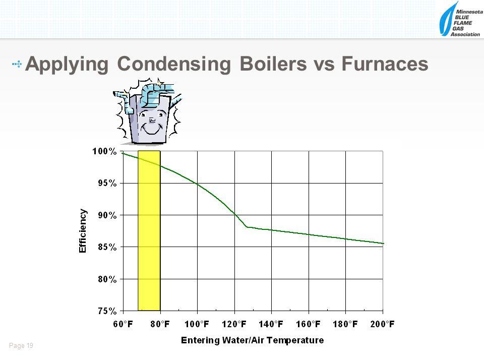 Applying Condensing Boilers vs Furnaces