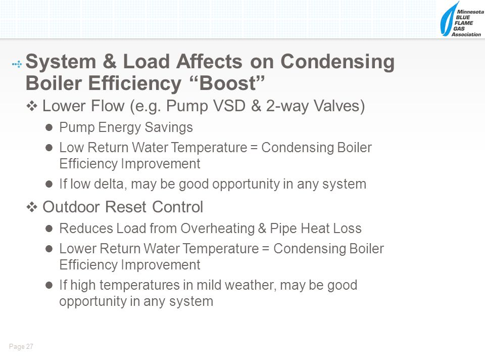 System & Load Affects on Condensing Boiler Efficiency Boost