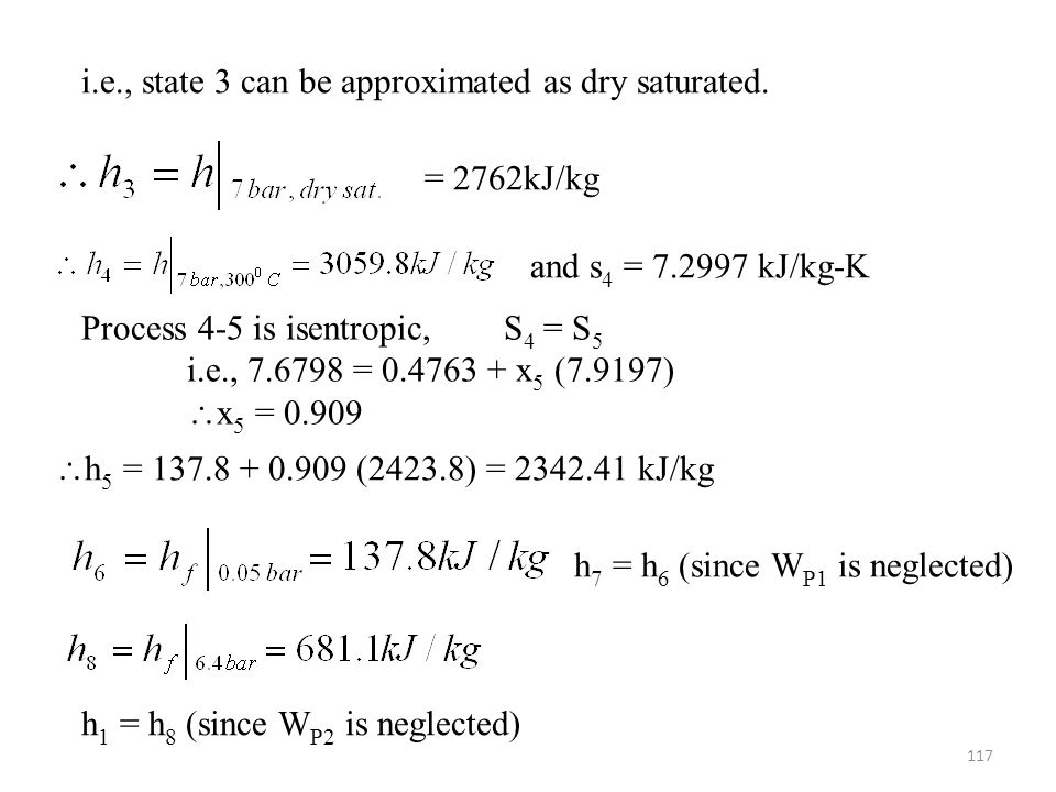 i.e., state 3 can be approximated as dry saturated.