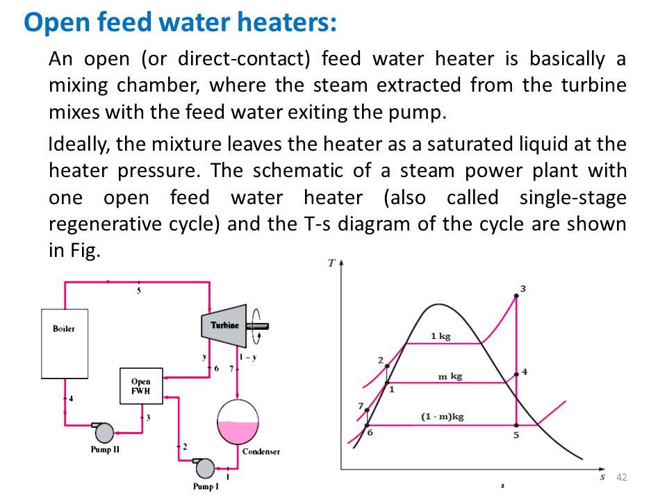 Open feed water heaters: