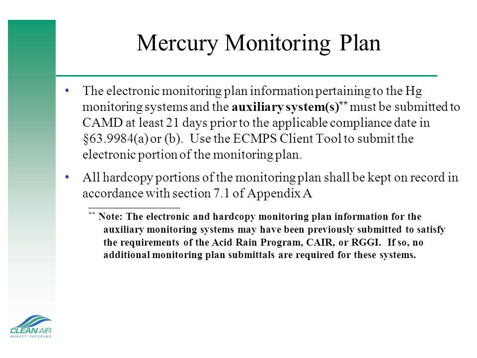 Mercury Monitoring Plan