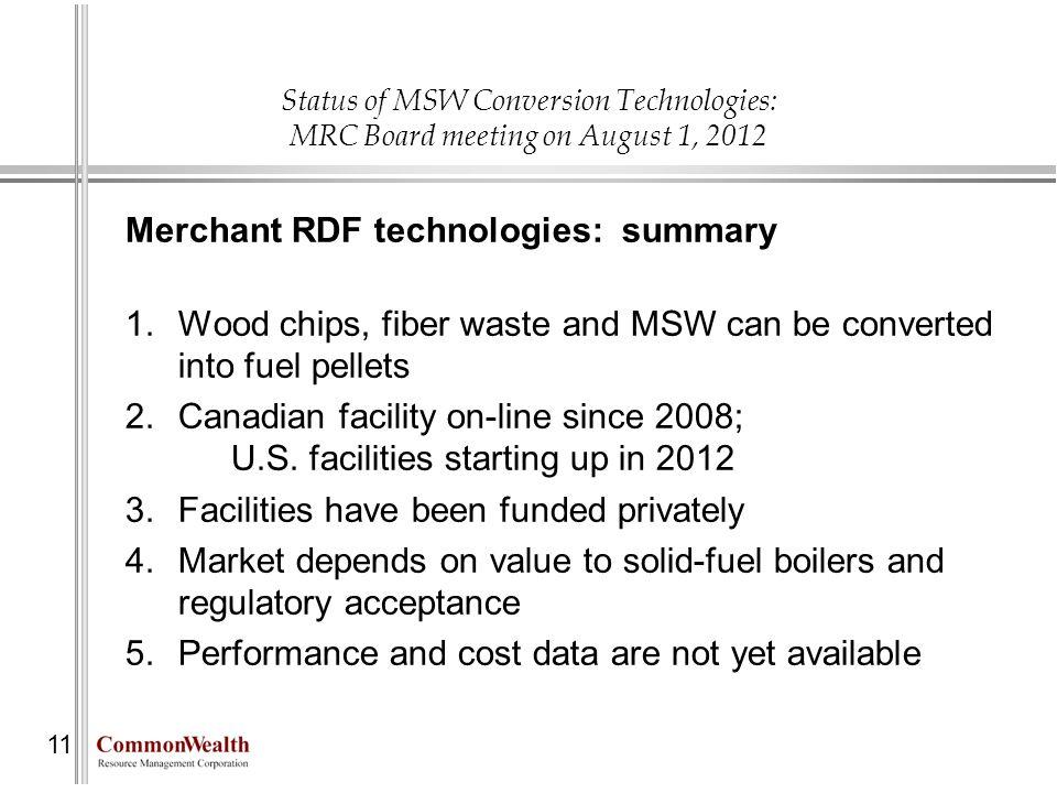 Merchant RDF technologies: summary
