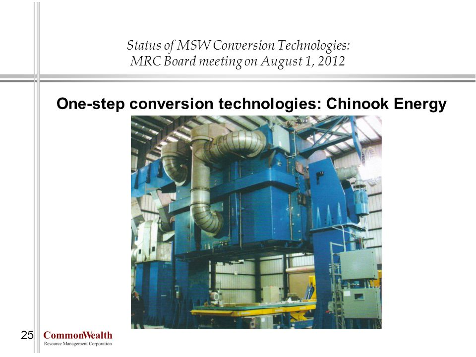 One-step conversion technologies: Chinook Energy