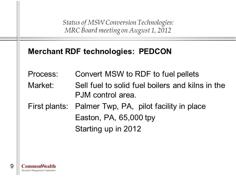 Merchant RDF technologies: PEDCON