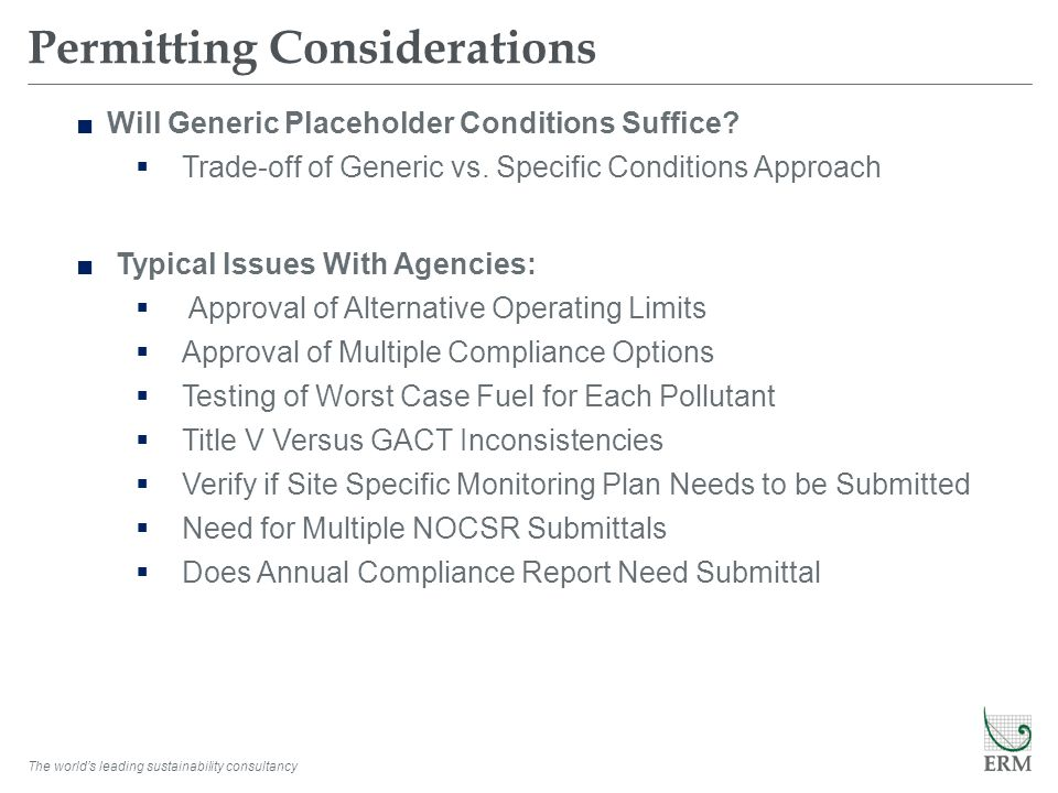 Permitting Considerations