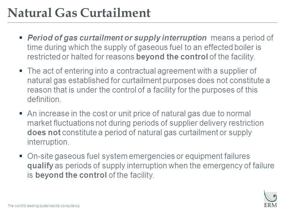 Natural Gas Curtailment