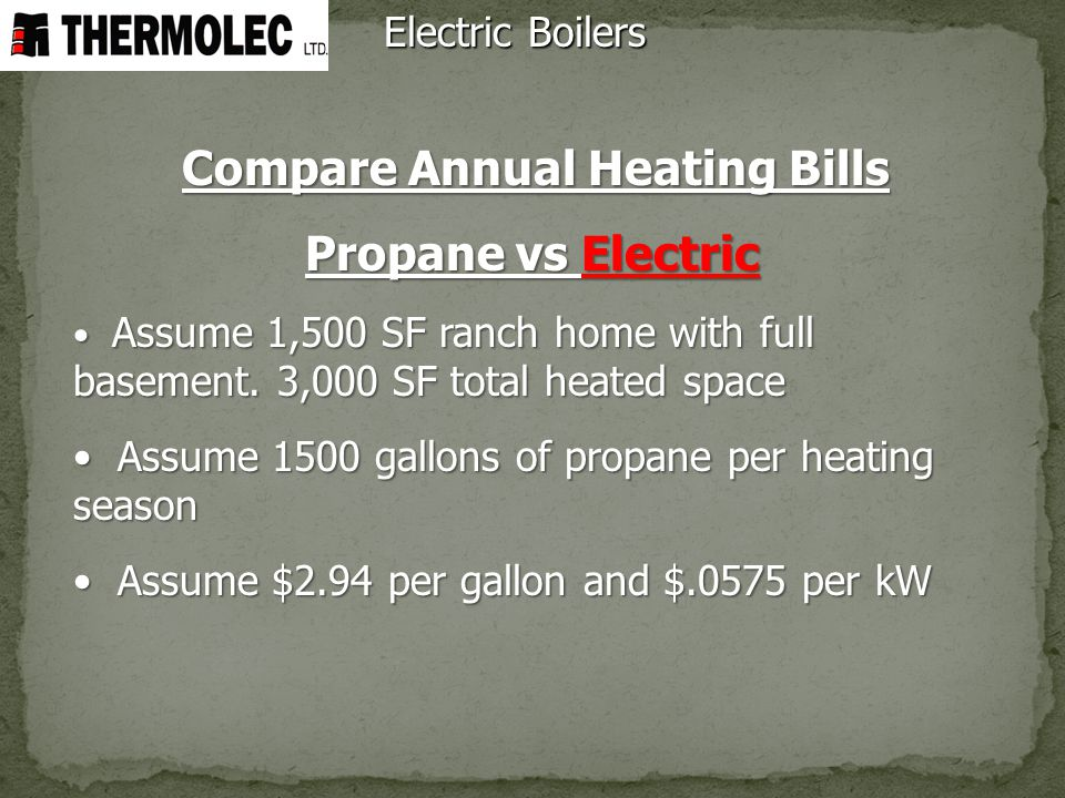 Compare Annual Heating Bills
