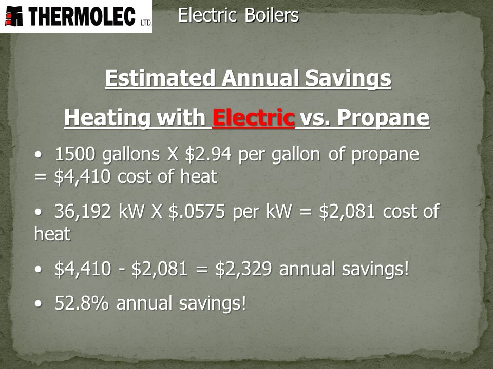 Heating with Electric vs. Propane