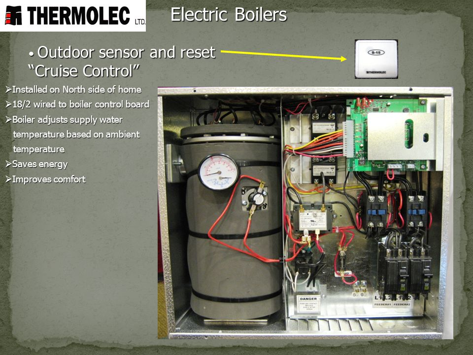 Electric Boilers Outdoor sensor and reset Cruise Control