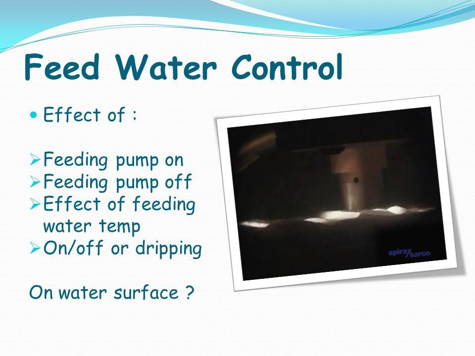 Feed Water Control Effect of : Feeding pump on Feeding pump off