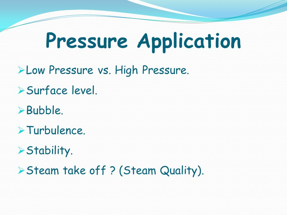 Pressure Application Low Pressure vs. High Pressure. Surface level.