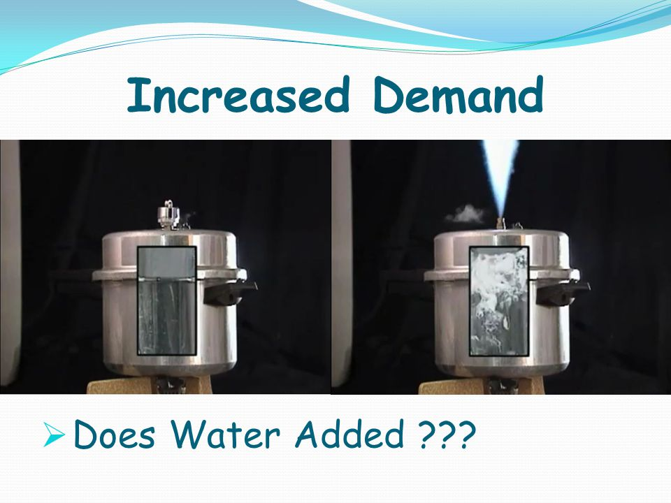 Increased Demand Does Water Added