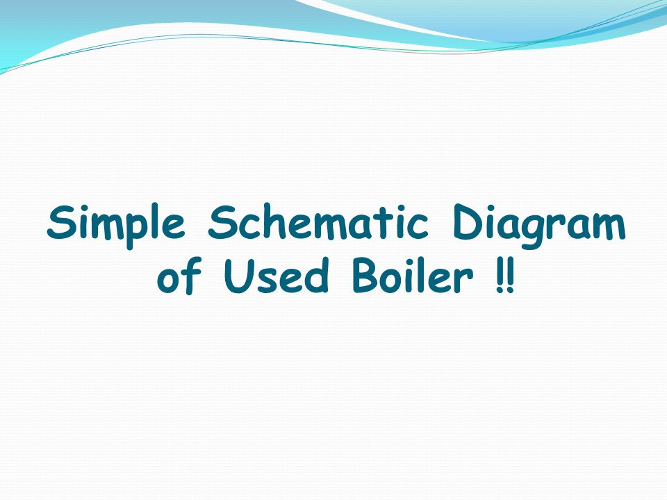 Simple Schematic Diagram of Used Boiler !!