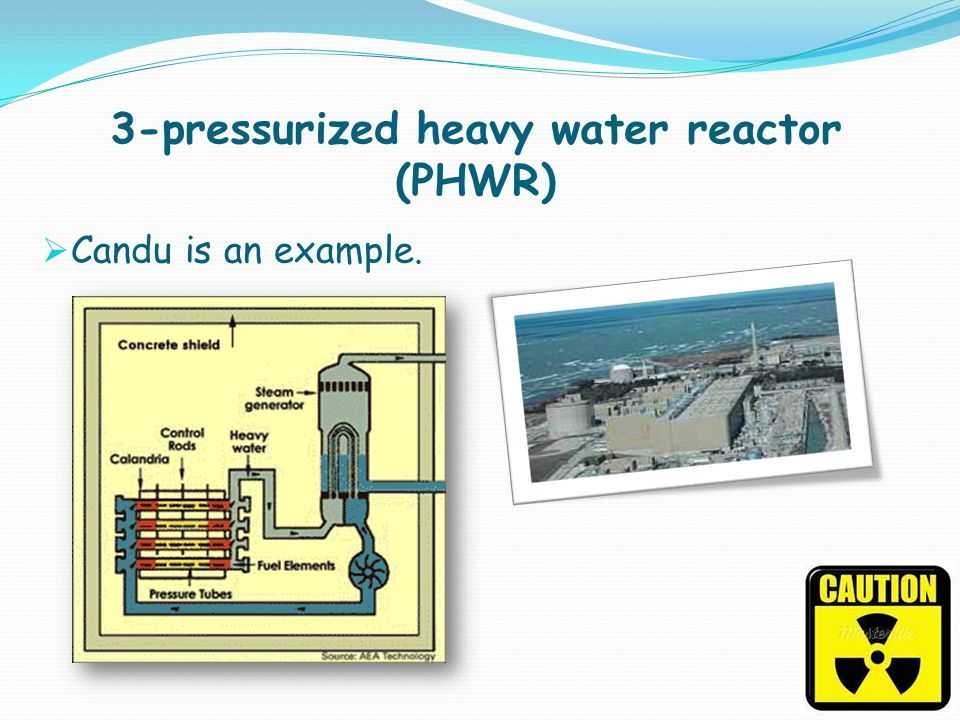3-pressurized heavy water reactor (PHWR)