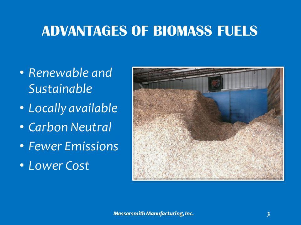 Advantages of biomass fuels