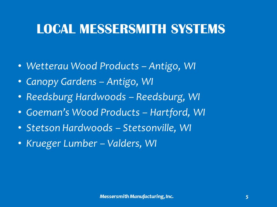 Local Messersmith Systems