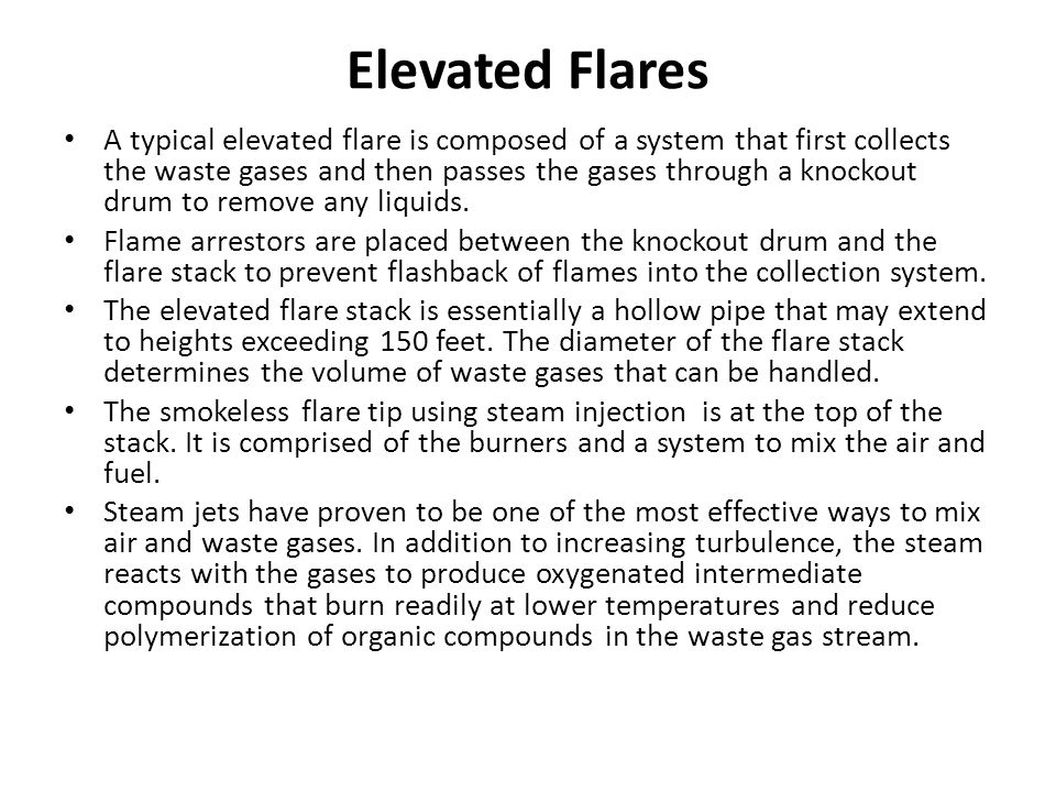 Elevated Flares