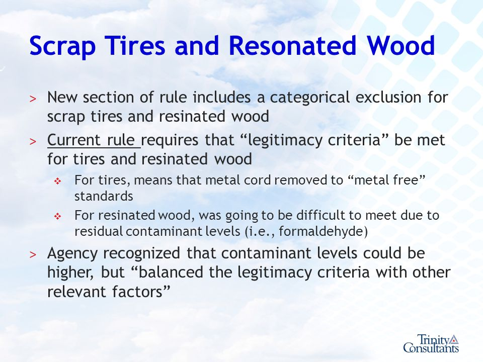 Scrap Tires and Resonated Wood