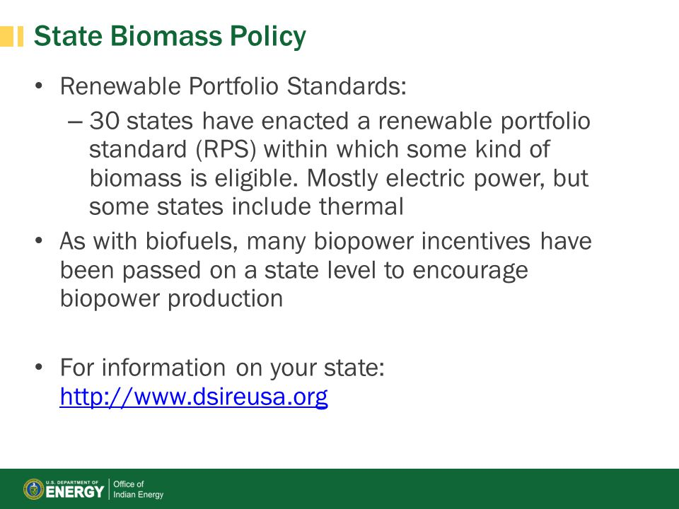 State Biomass Policy Renewable Portfolio Standards: