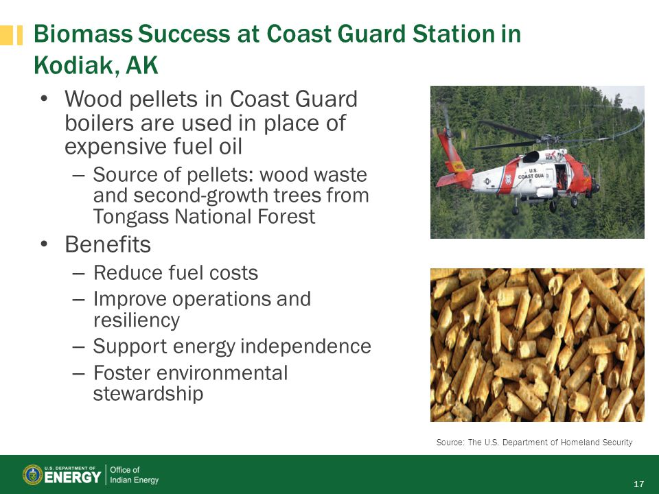 Biomass Success at Coast Guard Station in Kodiak, AK