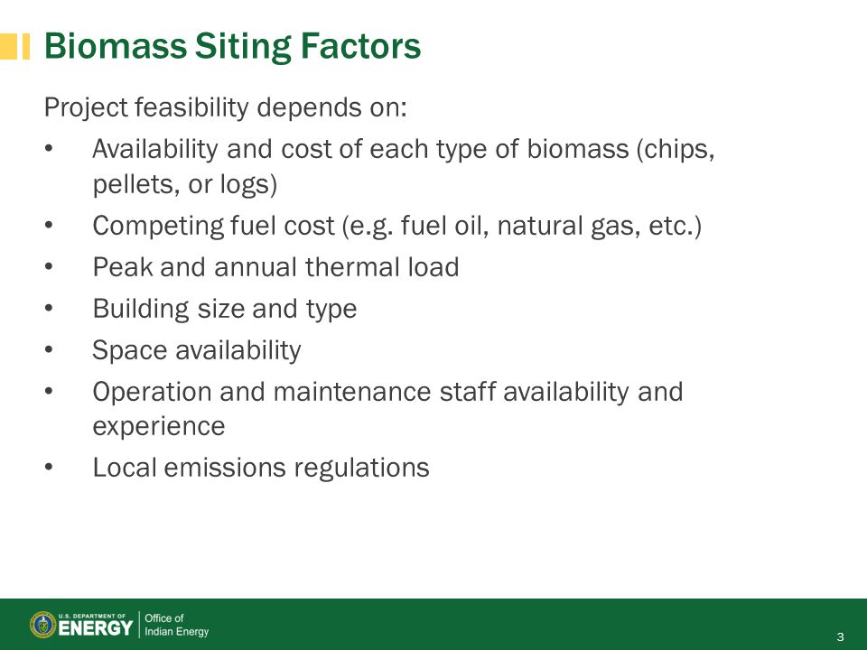 Biomass Siting Factors