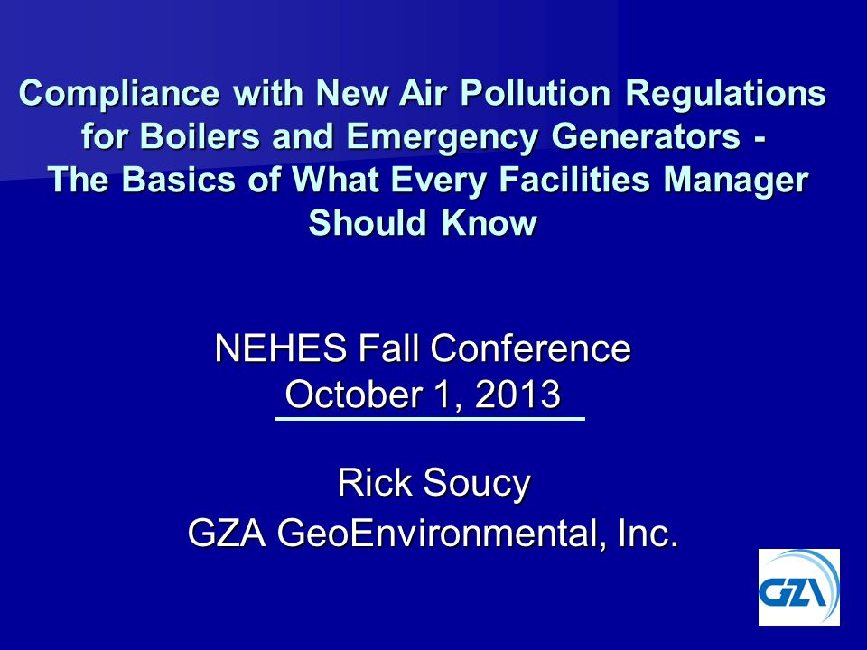 Rick Soucy GZA GeoEnvironmental, Inc.