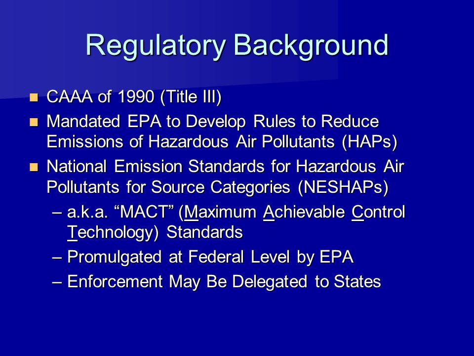 Regulatory Background