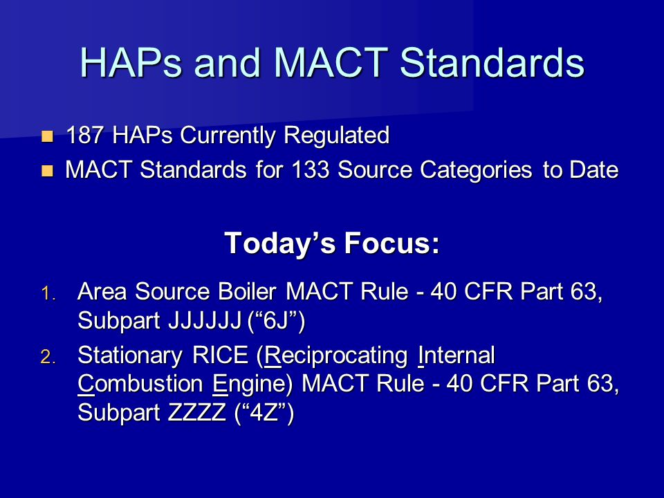 HAPs and MACT Standards