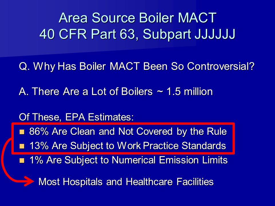 Area Source Boiler MACT 40 CFR Part 63, Subpart JJJJJJ