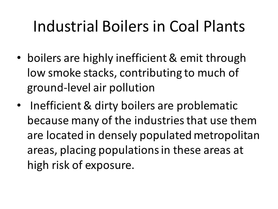 Industrial Boilers in Coal Plants