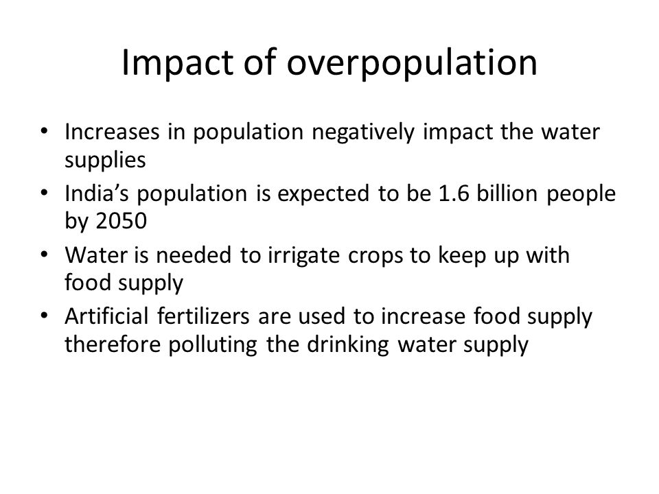 Impact of overpopulation