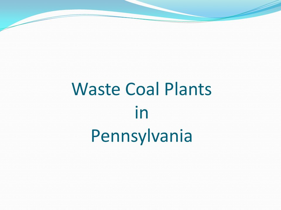 Waste Coal Plants in Pennsylvania