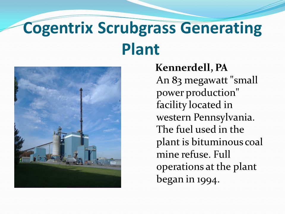 Cogentrix Scrubgrass Generating Plant