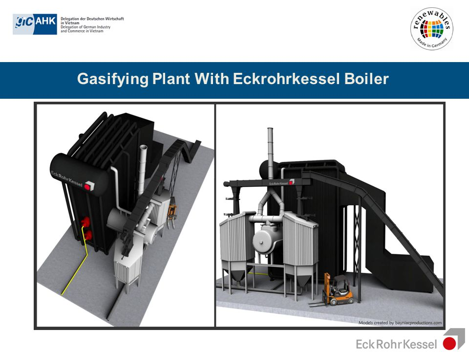 Gasifying Plant With Eckrohrkessel Boiler