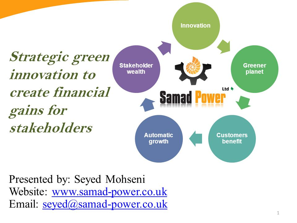 Strategic green innovation to create financial gains for stakeholders