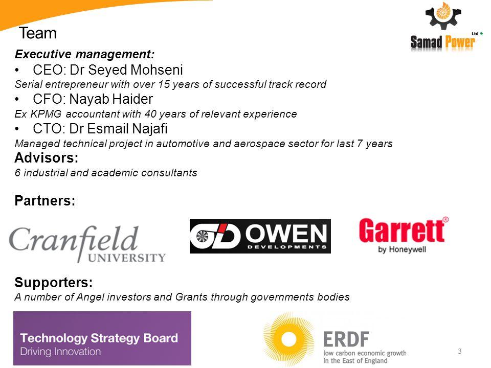 Team CEO: Dr Seyed Mohseni CFO: Nayab Haider CTO: Dr Esmail Najafi