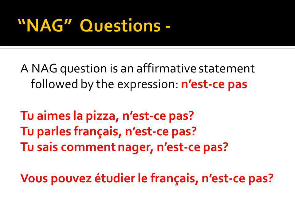 NAG Questions -