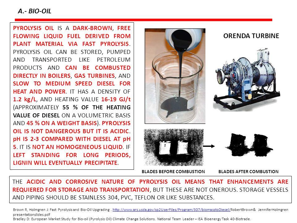 A.- BIO-OIL ORENDA TURBINE