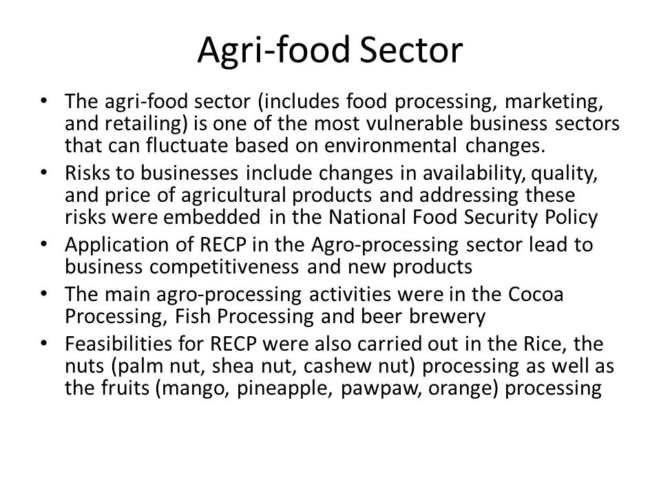 Agri-food Sector