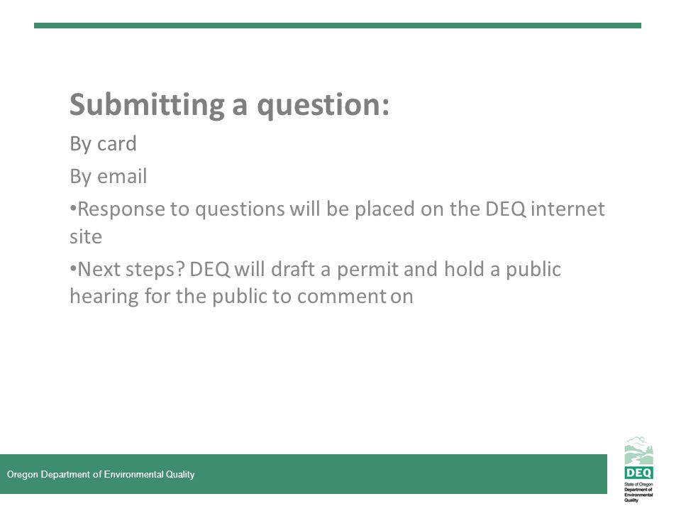Submitting a question: