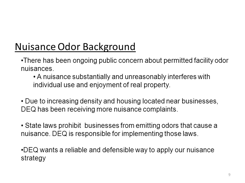 Nuisance Odor Background