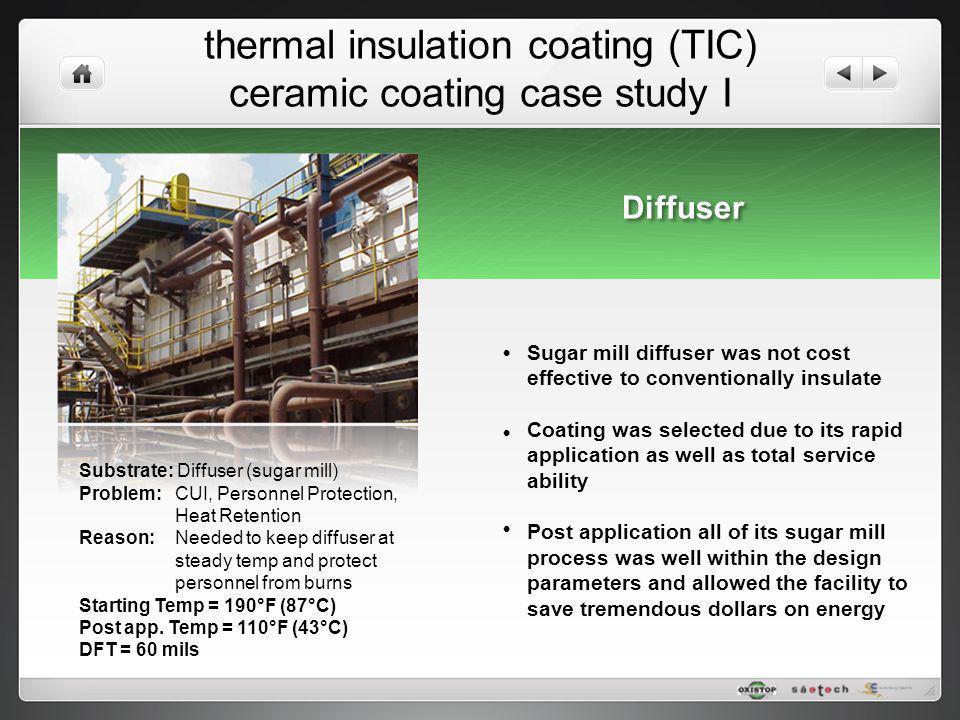 thermal insulation coating (TIC) ceramic coating case study I