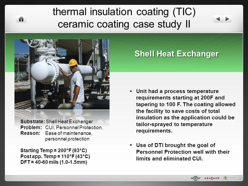 thermal insulation coating (TIC) ceramic coating case study II