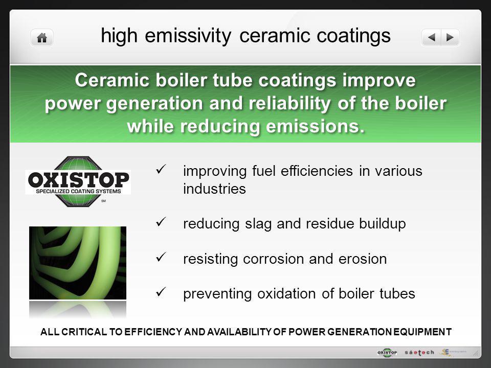 high emissivity ceramic coatings